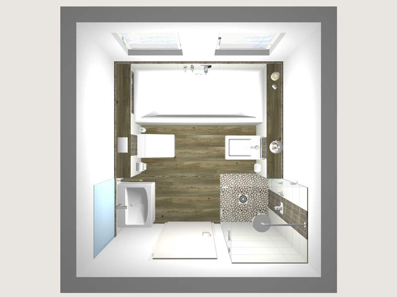 Grundriss Bad. Cheap Badezimmer Grundriss Beispiele Din Bad Wc With ...